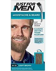 Just For Men - Tinte de barba y bigote para hombre, color bronceado (M25), 1/ paquete