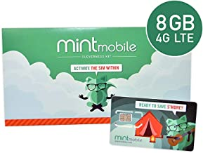 $20/Month Mint Mobile Wireless Plan | 8GB of 4G LTE Data + Unlimited Talk & Text for 3 Months (3-in-1 GSM SIM Card)
