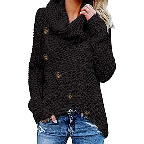 Auifor Damen Herbst Winter Übergangs Warm Bequem Slim Lässig Stilvoll Frauen Langarm Solid Sweatshirt Pullover Tops Bluse Shirt Pullover