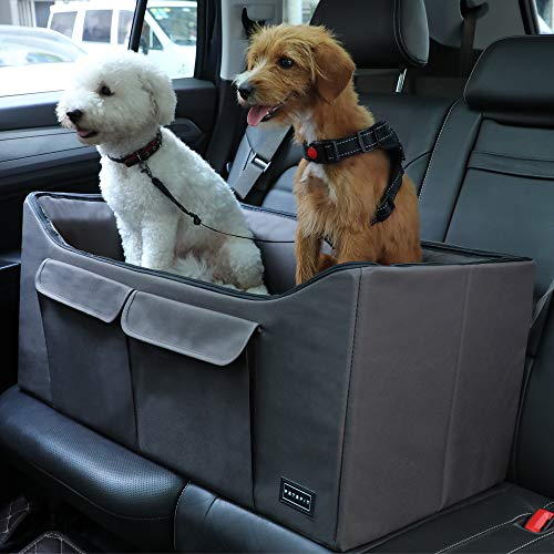 Petsfit Dog Car Seat Large Pet Car Booster Seat Lookout Car Seat for Medium Dog up to 45 Pounds 29.5' Lx16 Wx14 H