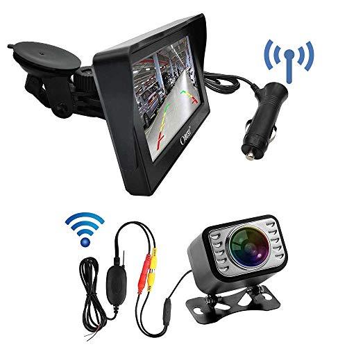 3T6B Kit de Surveillance Vidéo Moniteur sans Fil Vision Angle 170° Haute Définition 4.3 Pouces TFT Ecran