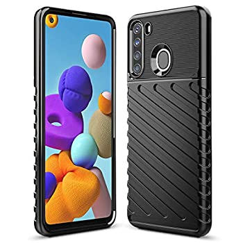 Sucnakp Galaxy A21 Case Samsung A21 Case Shock Absorption Anti Scratch Heavy Duty Durable Drop Protection Cell Phone Cover for Samsung Galaxy A21 US Version (LT Black)