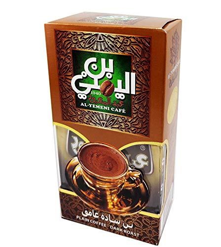 EL - Yemeni EL Yemeni ELYemeni Original Turkish Coffee Cafe Arabic Arabian Arabica Ground Roasted Mud Coffee ( Palin Coffee Dark Roast 7 oz / 200 gm )