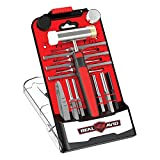 Real Avid Gunsmithing Tools I Hammer Set & Punch Set with Small Hammer & Flat Tip Metal Punch Set I Punch Tools Tool Kit includes Gunsmithing Hammer with 4 Tips, Non Marring Punch & Pin Starter Tool