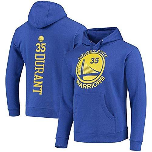 ZSPSHOP NBA Sudadera con capucha Golden State Warrior No.35 Durant Basketball Fan Casual Cómoda camiseta deportiva (color azul, tamaño: XXL)
