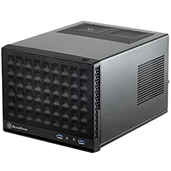 SilverStone Technology Ultra Compact Mini-ITX Computer Case with Mesh Front Panel Black  SST-SG13B-USA