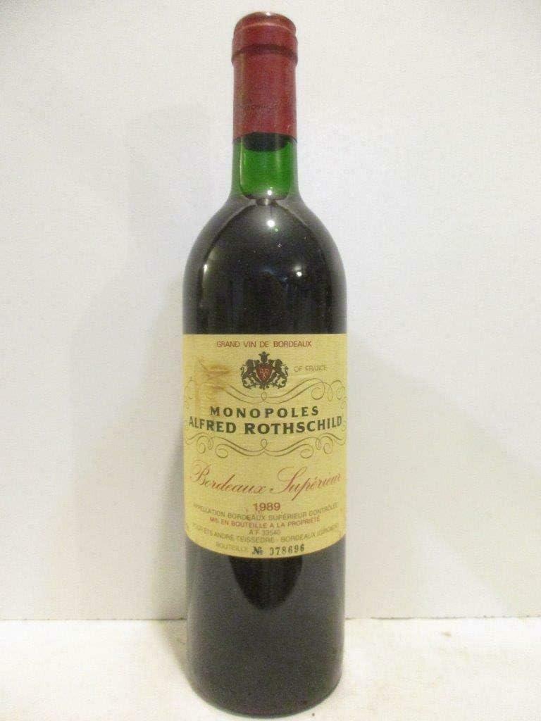 bordeaux supérieur monopoles alfred rothschild rouge 1989 - bordeaux