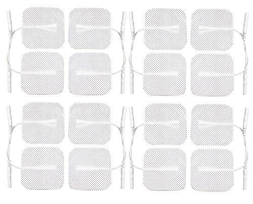 Med-Fit 16 TENS Elektroden 4 Packungen von höchster Qualität extra langlebig selbstklebend Tens Elektroden Größe 5cm x 5cm