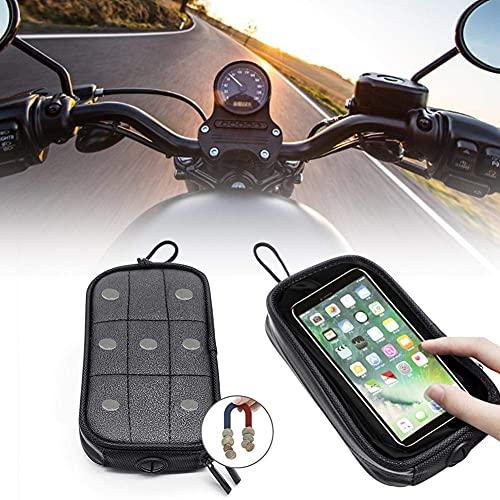 wonderday Motorrad Handytasche, Universal Motorrad Magnet Tank Handyhalter Tasche Handy Sitz Tasche Halter Tasche mit 7PCS Starke Magnete