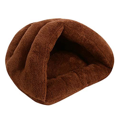 Winnfy Cama para Mascotas Cama para Dormir para Gatos Cálida Y Acogedora Bolsa de Dormir Cama Cueva Cerrada para Cachorro de Gato