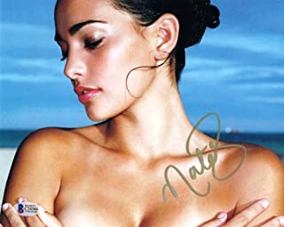 NATALIE MARTINEZ SIGNED AUTOGRAPHED 8x10 PHOTO VERY SEXY PRETTY BECKETT BAS