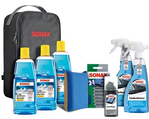 SONAX WinterSet (8-teilig) topfit, geschützt und schonend durch die kalte Jahreszeit mit hochwertigen Autopflegeprodukten | Art-Nr. 07651410