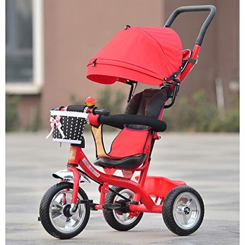 Moolo Kinderwagen Kind Dreirad Hochkohlenstoffstahl Baby Trolley Drücken Fahrrad Kind Selbstfahrender Kinderwagen (Farbe : D)