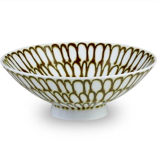 白山陶器 平茶わん 茶 (約)φ15×5.3cm Q-54 森正洋デザイン 波佐見焼 日本製