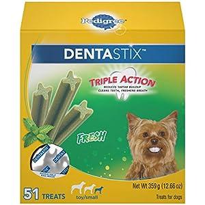 Pedigree Dentastix Dental Dog Treats for Toy/Small Dogs Fresh Flavor Dental Bones, 12.66 Oz Pack (51 Treats)