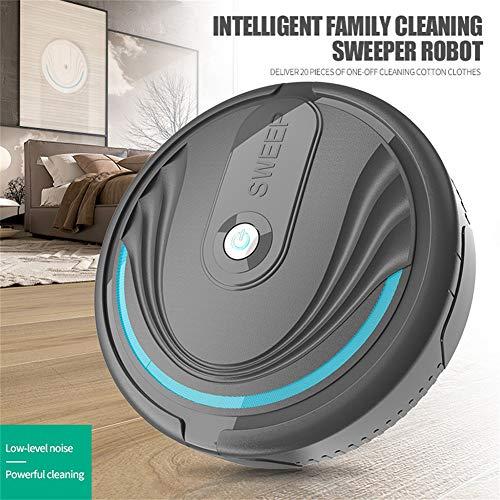 perlo33ER Hogar Automático Smart Clean Robot Aspirador Eliminador De Polvo De Barrido De Piso Negro Bateria cargada