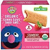 Earth's Best Organic Sesame Street Sunny Day Toddler Snack Bars with Cereal Crust, Strawberries, (8...