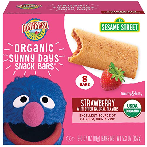 Earth's Best Organic Sesame Street Sunny Day Toddler Snack Bars