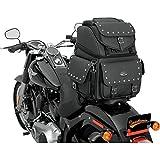 Saddlemen 3515-0121 Combination Backrest/Seat/Sissy Bar Bag with Studs