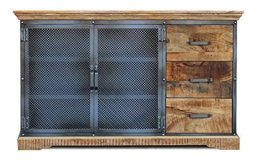 Main Möbel dressoir 146 x 88 cm 'Detroit' mango natuur metaal