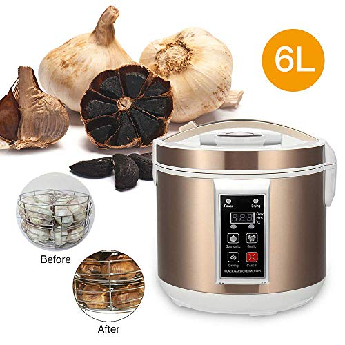 MaquiGra Fermentador Eléctrico de Ajo Negro Máquina Automática de Fermentación para Ajos Negros con Función de Secador Ajuste del Tiempo de Fermentación (6L)