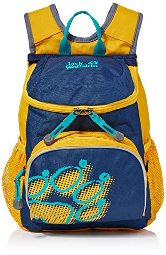 Jack Wolfskin Kinder Little Joe bequemer Kinderrucksack, Burly Yellow XT, ONE Size