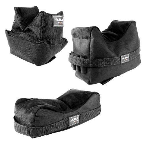 Set of 3 Black Color Bench Rest Shooting Bags...
