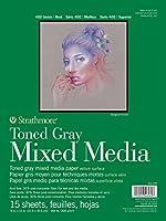 (Grey) - Strathmore Toned Mixed Media Pad 9x12 Grey