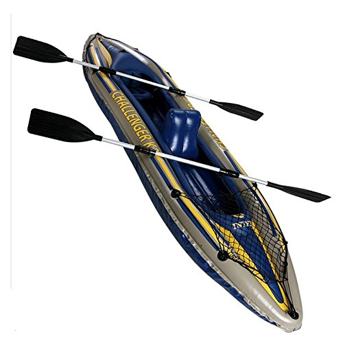 Canoa Kayak gonfiabile Challenger K2 2 posti Pagaia...