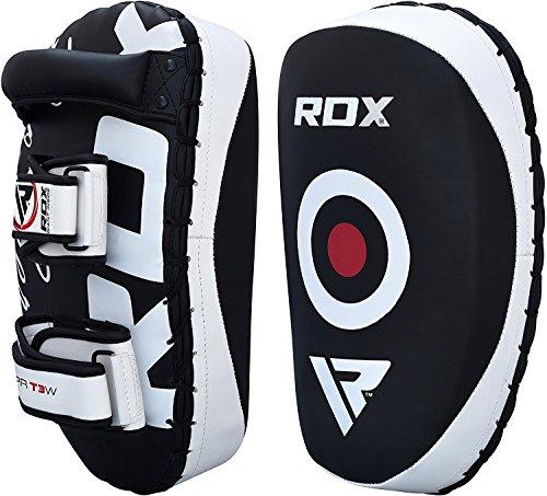 RDX MMA Strike Shield Pair Kick Target Focus Bag Thai Pads Boxing Mitts Punching Kickboxing