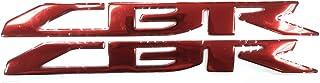 Red 3D Logo Emblem Sticker Decal Polish Gloss Raise Up for Honda CBR 600 250 300 1000 1100 RR Fireblade