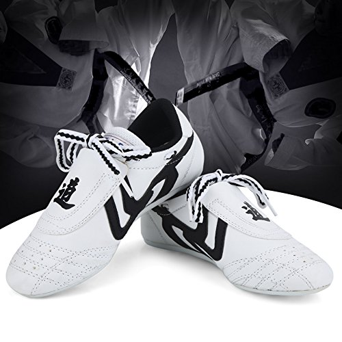 Taekwondo Schuhe Sneaker Kampfkunst Schuhe, Kinder Teenager Kampfkunst Training Schuhe Sport Boxen Karate Schuhe für Taekwondo, Boxen, Kung Fu, Taichi(29 Size Suitable for 180mm Foot Length)