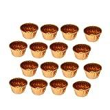NUOBESTY Fodere per cupcake metallico in lamina d'oro da 50 pezzi involucri di carta per m...