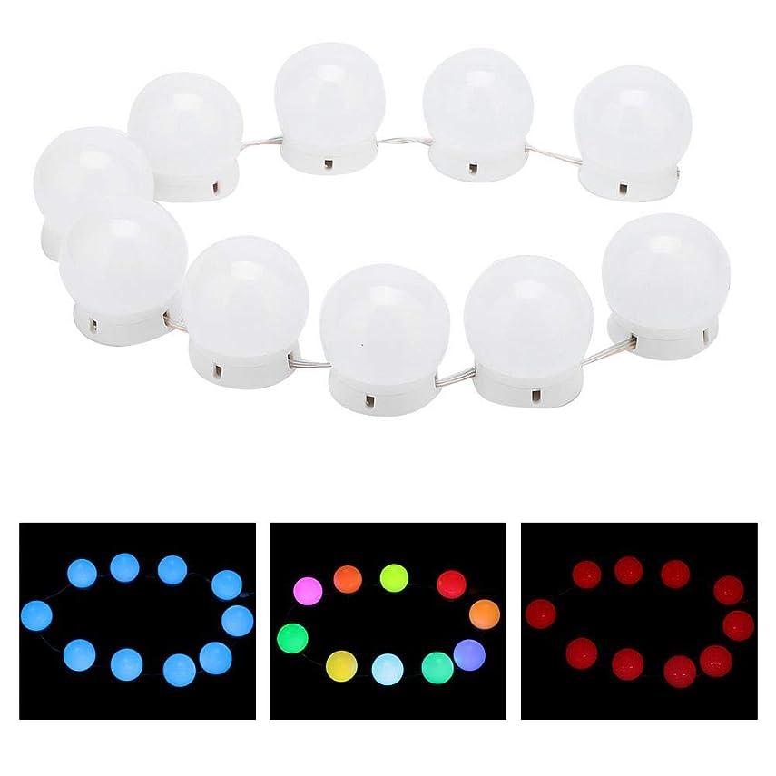 不道徳満足させる摂氏度化粧鏡ラ??イトキット 10 LED付き調 光ライトストリング電球バニティライト化粧鏡に最適 バスルームの照明