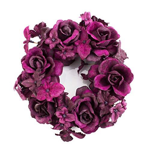 bougie en fleur de rose faite /à la main avec 21 p/étales de rose 15x7,5cm en rose Grande bougie flottante ou bougie de d/éco