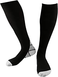 Reehut Compression Socks for Men & Women - Ideal for Sport, Jogging, Flight, Pregnancy & Daily walk - Increase Performance, Improve Circulation & Recovery
