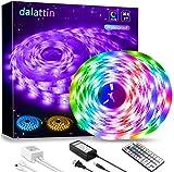 Led Lights,dalattin Led Strip Lights 32.8ft Waterproof Color Changing Multicolor Led Rope Lights with 44 Keys Remote Controller,2 Rolls of 16.4ft