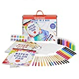 Kid Made Modern Crafting Supplies Studio in A Box Set - Painting Sketching and Coloring Kit