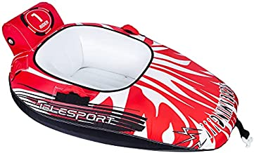 TELESPORT Inflatable Towable Cockpit Booster Tube Water for Boating 1-Rider Water Sports