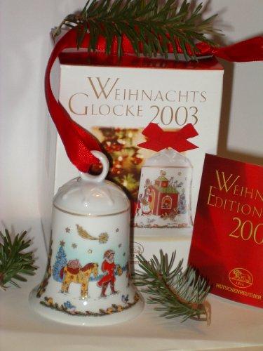 Hutschenreuther - Weihnachtsglocke 2003 - Porzellanglocke - Glocke aus Porzellan - NEU - OVP - 1. Wahl
