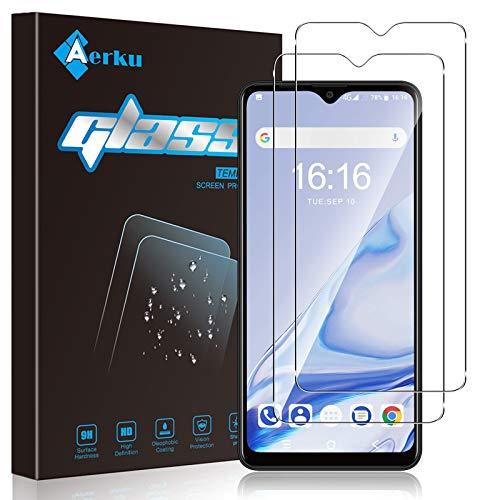 Aerku Cristal Templado Protector de Pantalla para Blackview A80 Pro/Blackview A80 Plus [2 Piezas], 9H HD Alta Sensibilidad 2.5D[Sin Burbujas] [Resistente a Arañazos] Vidrio Templado [Transparente]