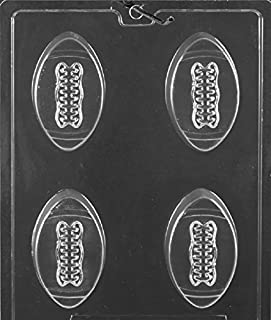 Grandmama's Goodies S118 Football Cookie Chocolate Candy Soap Mold with Exclusive Molding Instructions