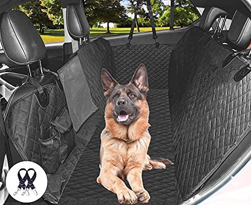 Cadosoigh Funda Perros Coche, Funda de Asiento para Perros Impermeable y Resistente, Protector Coche Perros con Rejilla Flexible Pasar Aire, Universal para SUV, Camión, Transportar y Viaje(146x136cm)