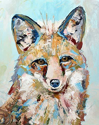 Charcoal Woodland Fox Print Art
