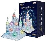 AiSi 105pcs 3D Puzzle Bausteine Schlosses / Burg in der Nacht mit Licht und Musik - 105 Teile -