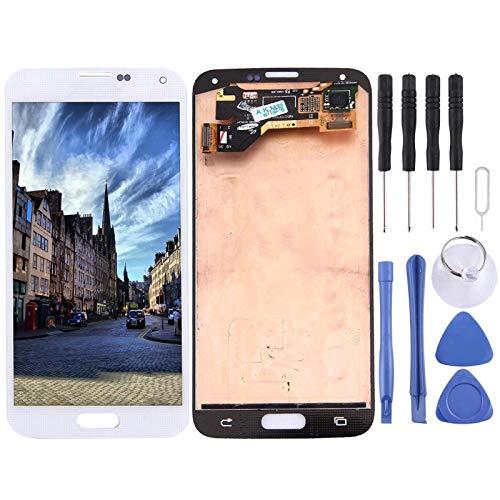 Accessory Kits - Digitalizador de pantalla táctil para Galaxy S5, G9006V, G900F, G900A, G900I, G900M, G900V, color blanco