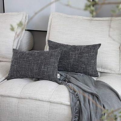 Kevin Textile Star Faux Linen Square Solid Pillow Case