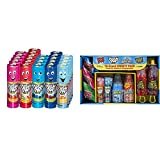 Push Pop Candy Assortment in Bulk 24 Pack – Blue Raspberry, Watermelon, Strawberry & Bazooka Candy Brands, Lollipop Variety Pack w/ Assorted Flavors of Ring Pop, Push Pop