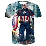 ASDZXC Capitán América Star Wars - Camiseta de manga corta para hombre, color negro, c, XXXXXL