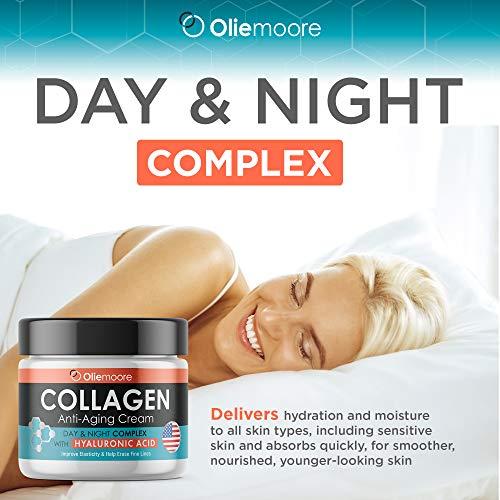 5174 WXu1KL - Collagen Face Cream for Women - Anti Wrinkle Cream for Face with Hyaluronic Acid & Vitamin C - Day & Night Cream for Women Anti Aging Face Moisturizer